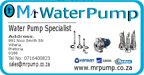 Mr. Water Pump/Borehole Pumps/Pressure Pumps etc.